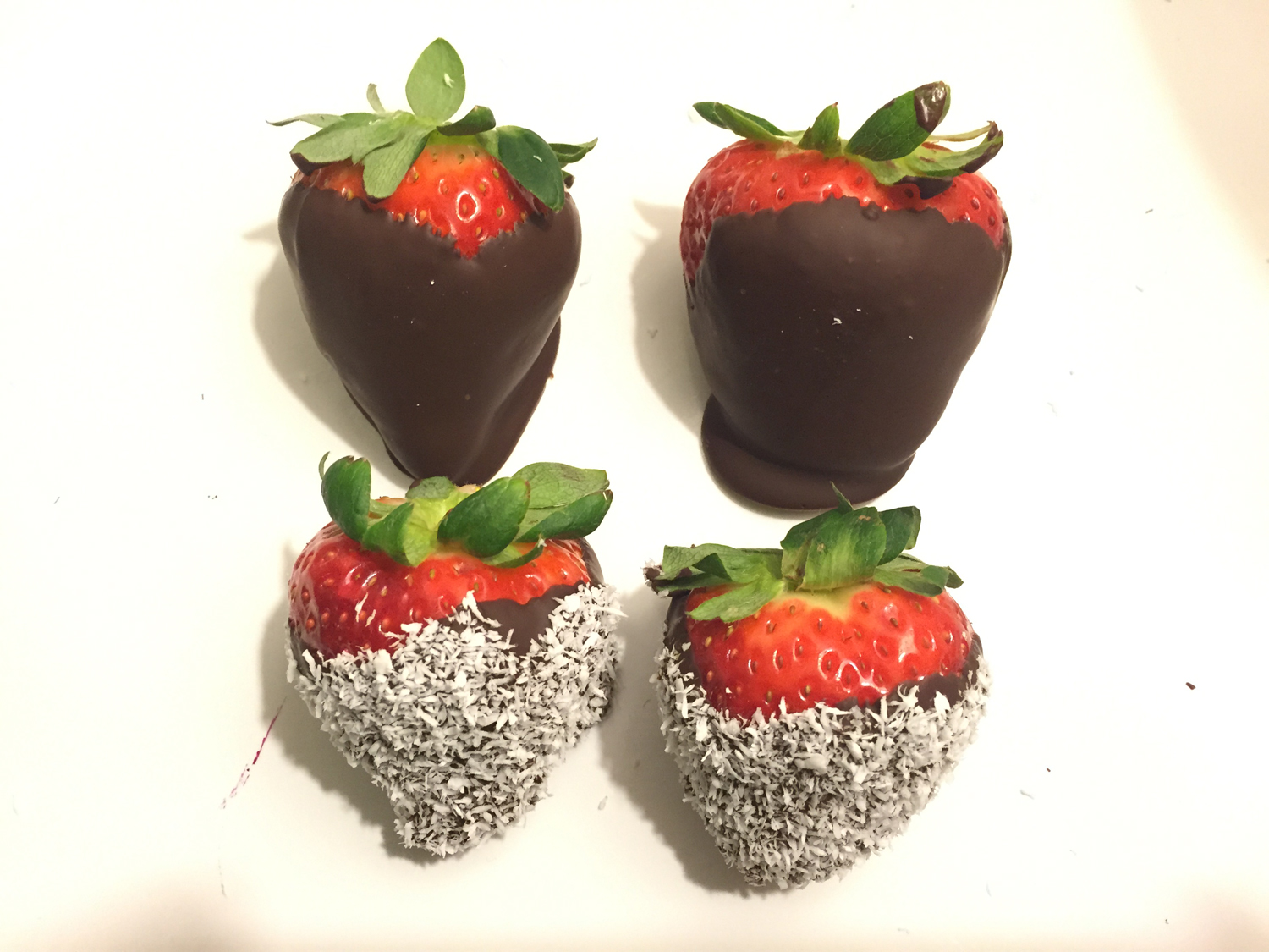 Chocolate And Coconut Covered Strawberries