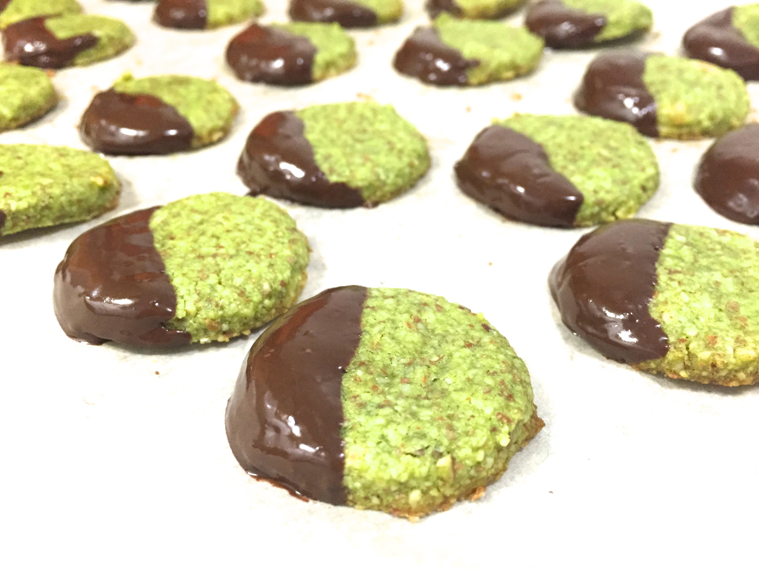 Black White And Green Cookies