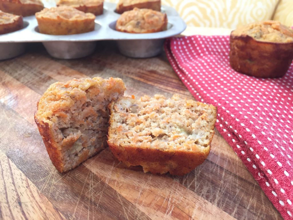 Paleo Banana Carrot Breakfast Muffins