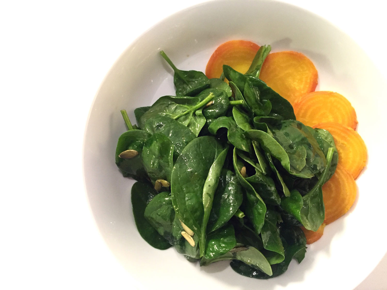 Maple Beet And Spinach Salad