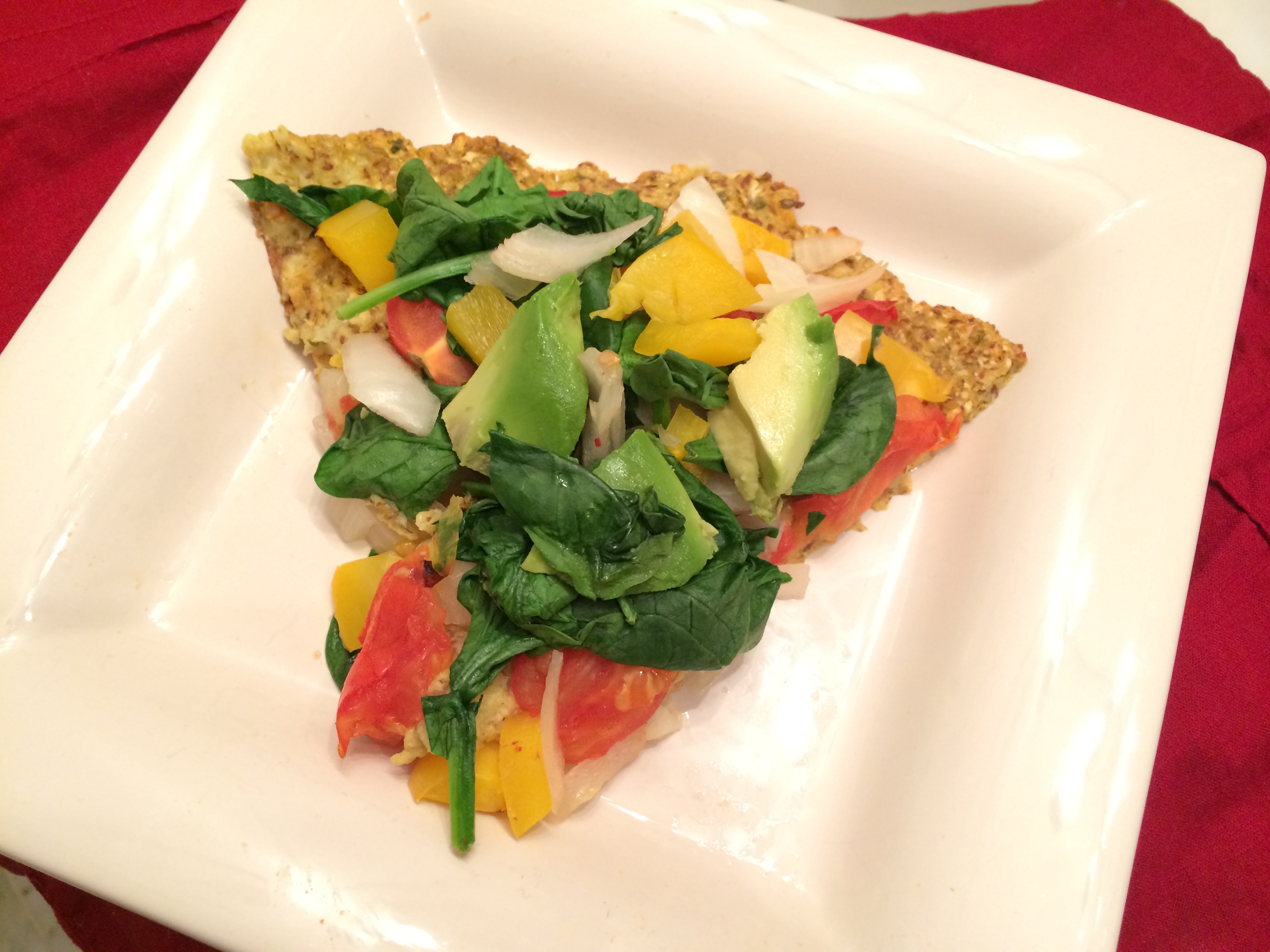 Quinoa And Cauliflower Vegan Vegetable Pizza