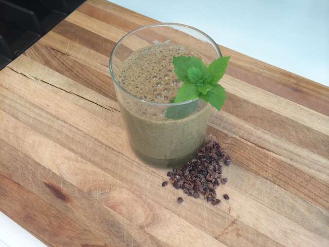 Banana Mint Chip Smoothie