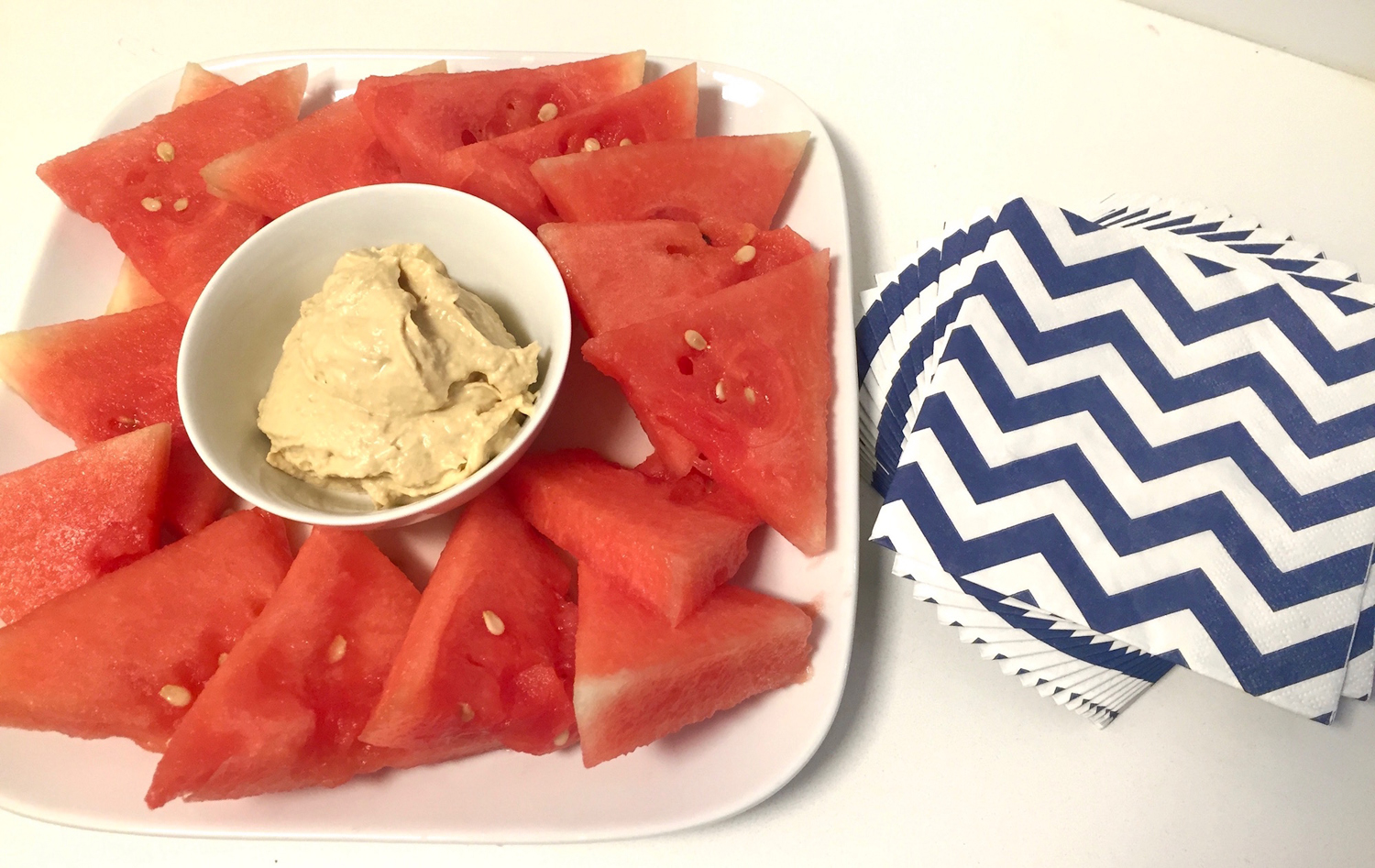 Red White And Blue Hummus Platter