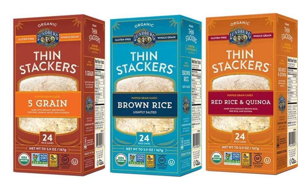 Lundberg Organic Gluten – Free Thin Stackers 3 Flavor Variety Bundle: (1) 5 Grain Thin Stackers, (1) Red Rice & Quinoa Thin Stackers, And (1) Brown Rice Lightly Salted Thin Stackers, 5.9 Oz Ea (3 Total)